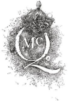 TIMI HAYEK: Pencil drawing for McQ, Alexander McQueen