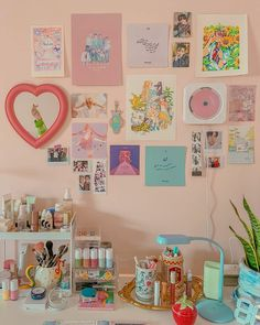 Room Design Bedroom, Room Ideas Bedroom, Bedroom Decor, Pastel Room Decor, Cute Room Decor, My New Room, My Room, Study Room Decor, Tattoo Studio