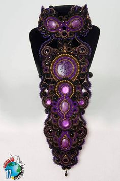 "Beads Antistres soutache My ""Litlle piece of Wonderland"" made for Batle of the Beadsmith 2017."