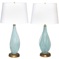 master bedroom A Pair Of Murano Glass Lamps