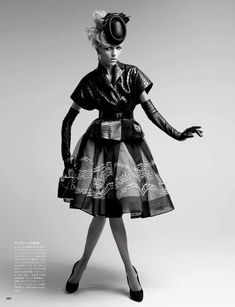 anja rubik5 Anja Rubik by Patrick Demarchelier in Dior Couture for Vogue Japan May 2012