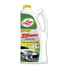 Turtle Wax Zip Wax® Car Wash & Wax - 1 step clean and shine in no time gently washes away dirt and road grime without scratching