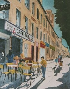 Eduard de Vries, Café St.-Denis, Paris on ArtStack #eduard-de-vries #art