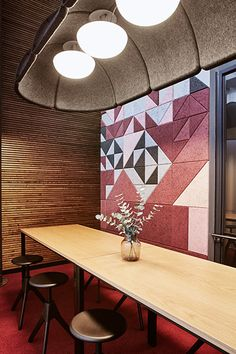 Baux acoustic tiles and panels at Opus in Helsinki. Learn more at http://www.relaydesignagency.co.uk/baux/