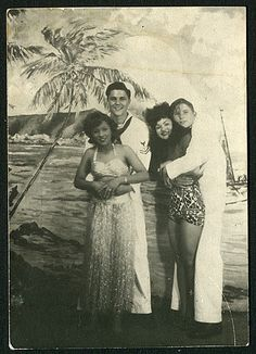Sailors and their gals.-Awesome. #interracial #backintheday