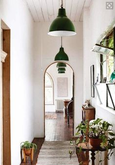 Love the clean simplicity ~ Warehouse/Barn pendant ...
