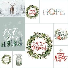 10+ Festive Free Christmas Printables | The Turquoise Home