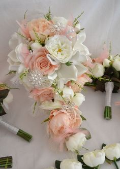 Diamante, pearl and button Bouquets - from Just Fake It Bouquets
