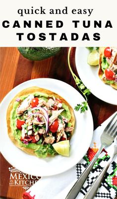 Canned Tuna Ceviche is a great way to jazz up canned tuna fish. These easy ceviche tuna tostadas are the perfect pick me up, midweek dinner or lunch. Delicious! So simple, healthy and flavorful! #tostadas #healthydinnerrecipes #cevichetostadas Tuna Ceviche, Ceviche Recipe, Real Mexican Food, Mexican Food Recipes, Ethnic Recipes, Healthy Dinner Recipes, Healthy Foods, Easy Recipes, Tostadas