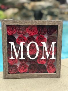 Wedding Gift - Bridal Shower Gift - Engagement Gift - Gift for Newly Weds - Flower Shadow Box Homemade Mothers Day Gifts, Mothers Day Gifts From Daughter, Mothers Day Cards, Mother Day Gifts, Flower Shadow Box, Flower Box Gift, Flower Frame, Bridal Shower Gifts, Bridal Gifts