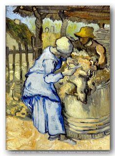 Vincent van Gogh (1853-1890) – The Sheep-Shearers. Van Gogh Museum, Amsterdam.