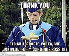 pepsi and coffee!! scratch the redbull The truth about college LOL so funny!
