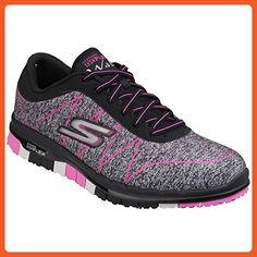 Skechers Womens/Ladies Go Flex Ability Patterned Trainers/Sneakers (7 US) (Black Pink) - Sneakers for women (*Amazon Partner-Link)
