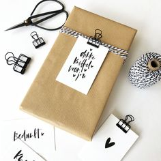 Business Thank You Cards, Food Packaging Design, Gift Labels, Diy Presents, Christmas Gift Wrapping, Handmade Home, Inspirational Gifts, Diy And Crafts, Wraps