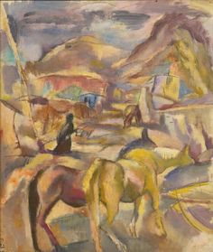thunderstruck9:  Jules Pascin (French, born Bulgaria, 1885-1930), Les Mulets [Mules]. Oil on canvas, 51.4 x 43.6 cm.