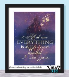 Tangled // Disney Prints // 8x10 // Romance // Now That I See You // Floating Lights // Falling in Love // Rapunzel and Flynn // B2G1FREE