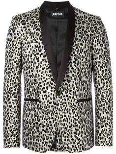 JUST CAVALLI Leopard Print Blazer. #justcavalli #cloth #blazer