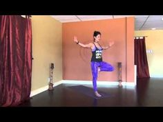 30 min. Creative Cardio Vinyasa Yoga Flow. Becca is very good at having everything flow and giving clear instructions so that even a beginner can know where they should be heading next and where they can stay if a move is too difficult. A great balance of relaxation and challenge.