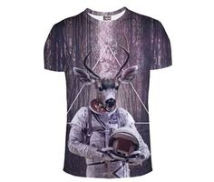 Moderní tričko s 3D potiskem jelen – VELIKOST L Na tento produkt se  vztahuje nejen zajímavá 310d254155