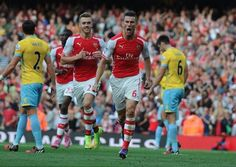 Koscielny scores the 1st goal for Arsenal #AFCvCPFC