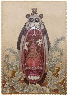 The Mole Bear Wars on the Behance Network Character Illustration, Illustration Art, Creative Inspiration, Design Inspiration, The Mole, Studio Organization, Big Bear, Illustrations And Posters, Heart Art