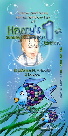 Rainbow Fish invitation