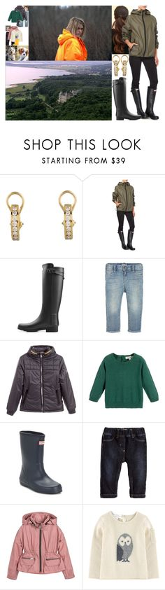 """Going for a walk along the beach in the afternoon with the kids, their nanny Ava and the dogs"" by marywindsor ❤ liked on Polyvore featuring Tiffany & Co., Hunter, Giorgio Armani, Timberland, Il Gufo and Burberry"
