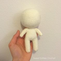 """The 6"""" Chibi Doll Base is a versatile pattern of a miniature plush that can easily be customized. It is comprehensive, providing full written instructions and example photos to guide you through the doll-making process. There is minimal sewing, as there are only two main pieces to be attached in the end: (1) the head/upper-body, and (2) the legs/lower-body. In addition to fiberfill stuffing, pipe cleaners will also be inserted inside the doll's body to keep the doll stabilized!  For the 12…"""