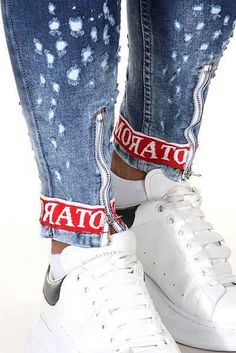 LAKENZIE Denim Street Style Skinny Jeans