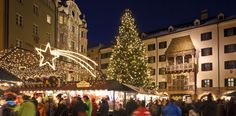 Christmas market in Innsbruck, Austria. Innsbruck, Hotel Austria, Travel Hotel, Austrian Empire, Visit Austria, Best Christmas Markets, Advent Season, Hotels, Europe