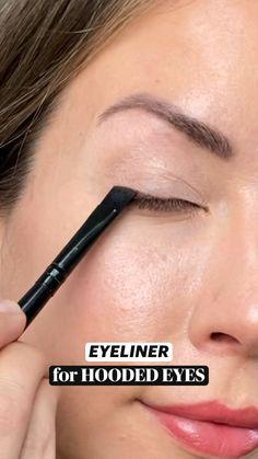 Skin Makeup, Makeup Brushes, Beauty Makeup, How To Makeup, Easy Eye Makeup, Easy Makeup Looks, Natural Makeup Look Tutorial, Hooded Eye Makeup Tutorial, Everyday Eye Makeup