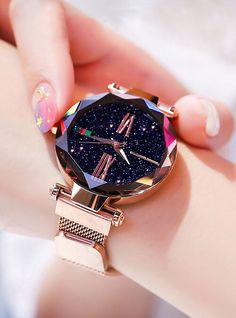 Luxury Women Watches Magnetic Starry Sky Female Clock Quartz WristwatcheFashion Ladies Wrist Watch reloj mujer relogio feminino - Home Decor Stylish Watches, Luxury Watches, Cool Watches, Watches For Men, Wrist Watches, Cheap Watches, Female Watches, Woman Watches, Nixon Watches