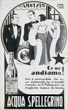 1925: S.Pellegrino represents passion for fine dining. Look for S.Pellegrino's red star and if they don't have the original, change the restaurant.