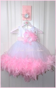 @Laura Jayson Horton Princess Valentine Couture Feather Tulle Party Dress - 8034