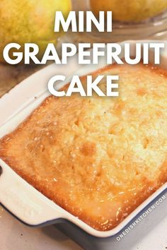 Buttery grapefruit cake drizzled with a wonderful grapefruit glaze. Easy to prepare and the perfect amount for one or two people to enjoy. Ice Cream Recipes, Pie Recipes, Grapefruit Cake, Slushie Recipe, Mini Loaf Pan, Single Serving Recipes, Summer Dessert Recipes, Cornbread, Tasty