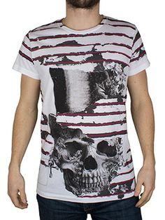 Ripped Stripes Pretty Skull T-Shirt Religion Clothing, Hoodies, Sweatshirts, Skull, Stripes, Pretty, Mens Tops, T Shirt, Shopping