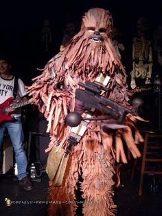 Presenting Piñata Chewbacca costume...  Every year I tend to go a bit overboard with Halloween. Not in the Halloween sense of the word but with a H...