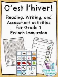 Primary French Immersion Resources: Assessment in Grade 1 FI Spanish Teaching Resources, French Resources, Spanish Activities, Work Activities, Teaching Activities, Language Activities, Teaching Ideas, Teaching French Immersion, French Language Learning