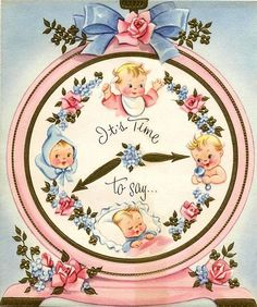 Vintage New Baby Card