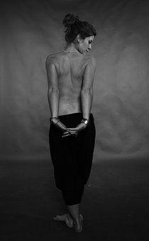 woman beautiful naked back skin black white photo .kopfkino. photocase creative stock photos