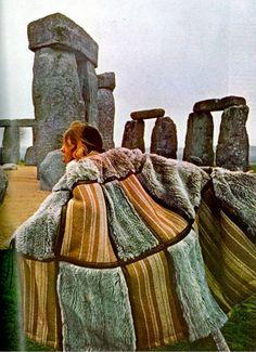 Vogue UK, 1970. First trip to stone henge and Glastonbury 1979