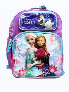 Disney Princess Frozen Elsa Anna with Snowman 16' inches backpack NEW Licensed Product >>> Read more  at the image link.