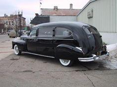 1946 Cadillac limousine style hearse ny Superior Coach Company
