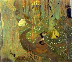 "Maurice Denis "" 1891  Easter Morning or Easter Mystery oil on canvas"""