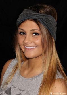 Bamboo Jersey Infinity head wrap by Manda Bees. $12 #hair #headband #headwrap