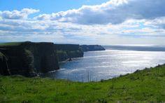 cliffs of moher ireland background wallpaper