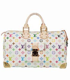 a887a949074 Louis Vuitton Multicolor Speedy White Bag