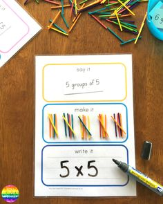 Say It Make It Write It For Maths - learn how to use tally marks, groups of and expanded addition using this FREE printable Maths Eyfs, Ks2 Maths, Guided Maths, Primary Maths, Fun Math Games, Math Activities, Word Games, Summer Activities, Mastery Maths