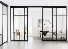 Did you know that you can use Elfa sliding doors as room dividers? See our sliding door designs and choose a suitable room divider for your home here. Sliding Door Room Dividers, Partition Door, Hanging Room Dividers, Room Divider Doors, Room Doors, Closet Doors, Internal Sliding Doors, Sliding Glass Door, Glass Room Divider