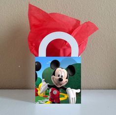 10 Mickey Mouse Favor Boxes Centerpieces Baby by CutePartySupplies